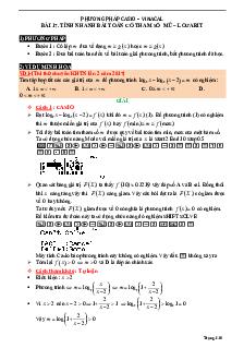Tính nhanh bài toán có tham số mũ - logarit bằng máy tính môn Toán lớp 12