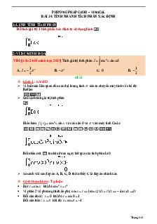 Tính nhanh tích phân xác định bằng máy tính môn Toán lớp 12