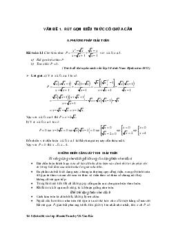 Tài liệu ôn thi vào lớp 10 môn toán
