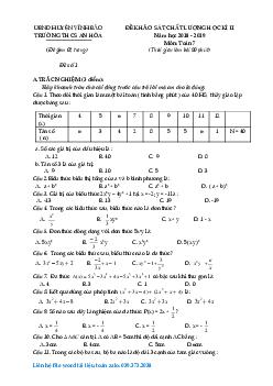 Tuyển tập đề thi học kì 2 môn toán lớp 7