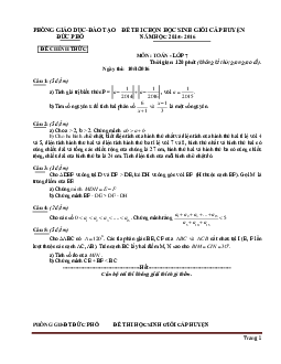 Tuyển chọn đề thi học sinh giỏi toán lớp 7