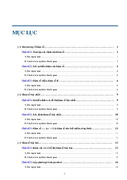 Tuyển Tập Bài Toán Đại Cương Về Hàm Số Môn Toán Lớp 10