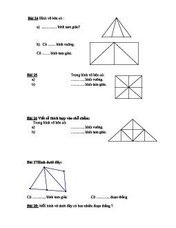 Bài tập về Hình tam giác phần 2 có đáp án, chọn lọc