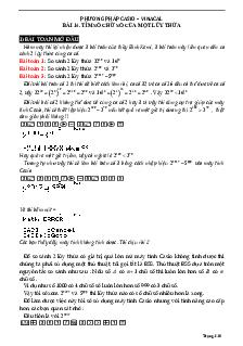 Tìm số chữ số của một lũy thừa bằng máy tính môn Toán lớp 12