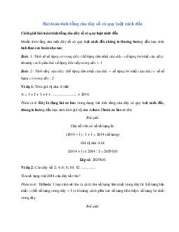 Bài toán tính tổng của dãy số có quy luật cách đều môn Toán lớp 5