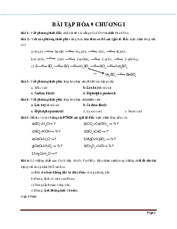 Bài tập về luyện tập chương 1 các loại hợp chất vô cơ chọn lọc