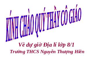 Giáo án Địa lí 8 Bài 27 Thực hành: Đọc bản đồ Việt Nam