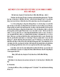 Kể một câu chuyện về việc làm theo 5 điều Bác Hồ dạy hay nhất (5 mẫu)