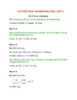 Trắc nghiệm Benzen và đồng đẳng có đáp án – Hóa học lớp 11