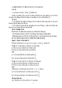 7 dạng bài toán tỉ số % môn Toán lớp 5