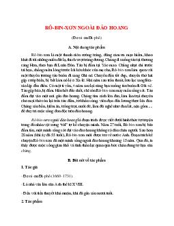 Tác giả tác phẩm Rô-bin-xơn ngoài đảo hoang – Ngữ văn lớp 9
