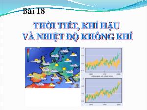Bài giảng Địa lý 6 Tiết 22: Thời tiết khí hậu và nhiệt độ không khí