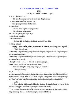 Các chuyên đề môn Toán lớp 4 có đáp án chi tiết