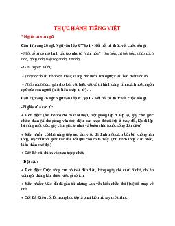 Soạn bài Thực hành tiếng Việt trang 26 Tập 1 – hay nhất Kết nối tri thức