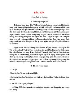 Tác giả tác phẩm Bắc Sơn – Ngữ văn lớp 9