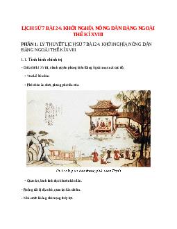 Lịch Sử 7 Bài 24: Khởi nghĩa nông dân đàng ngoài thế kỉ XVIII