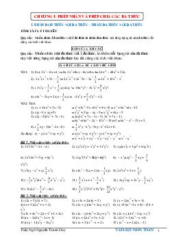 Phân loại các dạng toán lớp 8