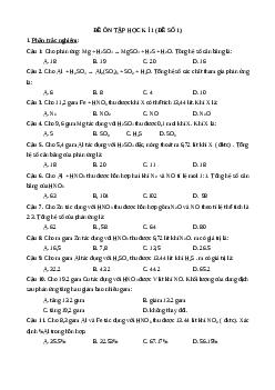 17 đề thi học kì 1 Hóa lớp 10 năm 2021 chọn lọc