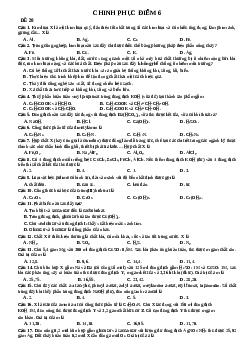 17 đề chinh phục điểm 6 môn Hoá