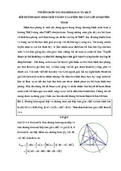 Các bài toán hình học hay trung học cơ sở