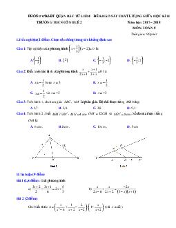 Bộ đề thi giữa kì 2 môn toán lớp 8