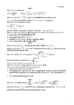 Bộ 22 đề thi HK2 môn Toán lớp 11