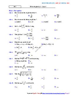 5 đề ôn thi giữa kỳ 2 Toán 11 có đáp án và lời giải
