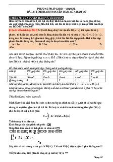 Tìm nhanh nguyên hàm của hàm số bằng máy tính môn Toán lớp 12