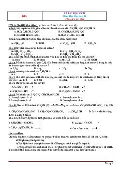 Tuyển chọn 15 đề thi học kì 2 môn Hóa học có đáp án, chọn lọc