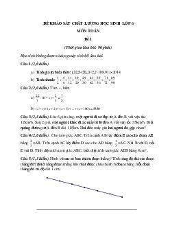 Bộ đề ôn thi vào lớp 6 môn Toán có đáp án năm 2021 (3 đề)