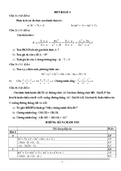 Tuyển tập 16 đề thi HSG môn Toán lớp 8 có đáp án