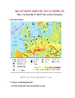 Địa Lí 7 Bài 57: Khu vực Tây và Trung Âu