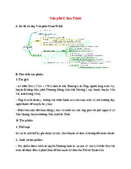 Sơ đồ tư duy bài Vào phủ Chúa Trịnhdễ nhớ, ngắn nhất - Ngữ văn lớp 11