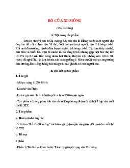 Tác giả tác phẩm Bố của Xi-mông – Ngữ văn lớp 9