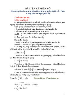 Dạng toán Phân số môn Toán lớp 4