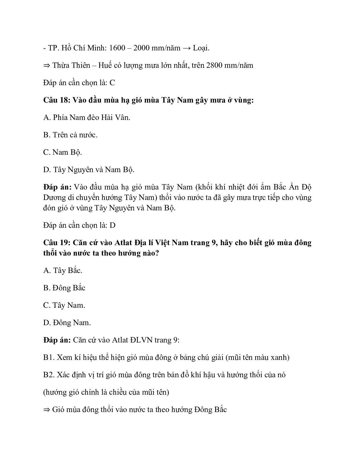 Địa Lí 12 Bài 9: Thiên nhiên nhiệt đới ẩm gió mùa (trang 10)