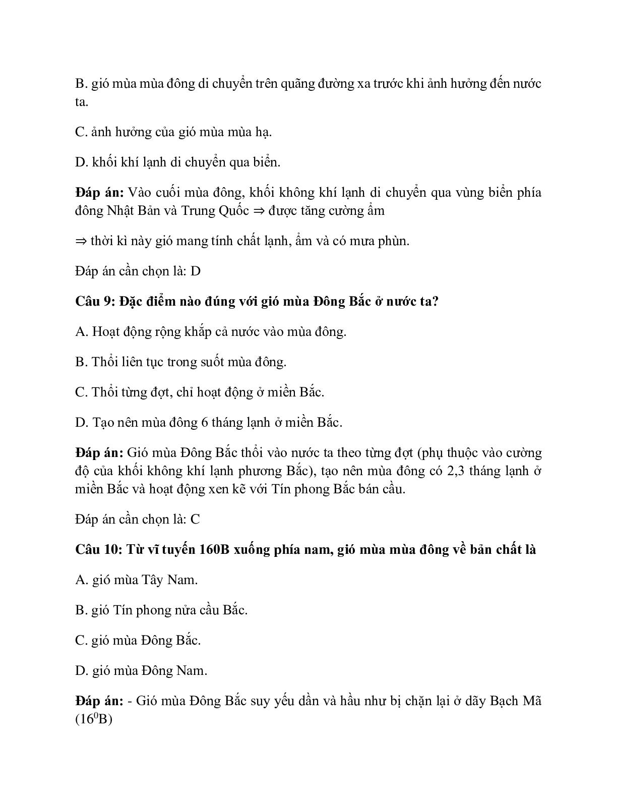 Địa Lí 12 Bài 9: Thiên nhiên nhiệt đới ẩm gió mùa (trang 6)