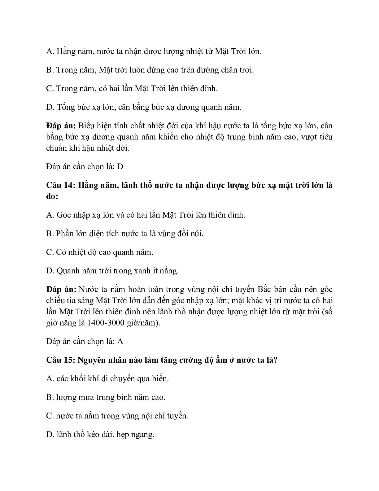Địa Lí 12 Bài 9: Thiên nhiên nhiệt đới ẩm gió mùa (trang 8)