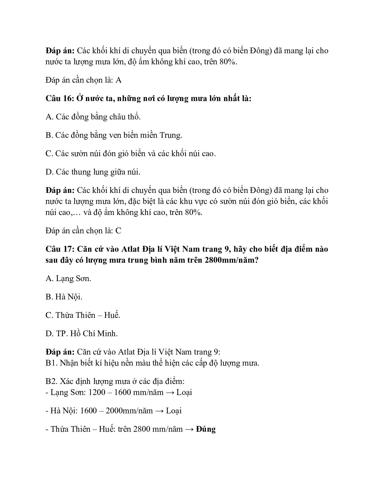 Địa Lí 12 Bài 9: Thiên nhiên nhiệt đới ẩm gió mùa (trang 9)