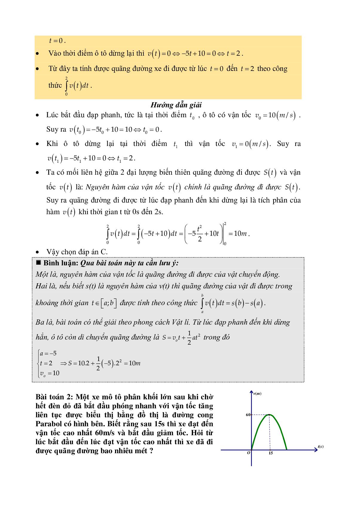 Lý thuyết và bài tập Nguyên hàm tích phân chọn lọc (trang 7)